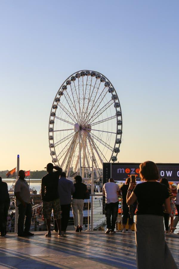 Ferris Wheel National Harbor Maryland 2017 royalty free stock image
