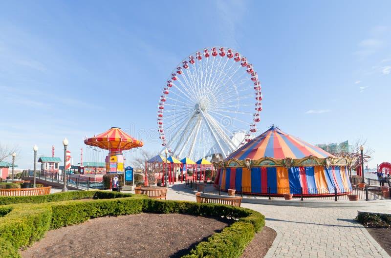 Ferris Wheel at Navy Pier stock photo
