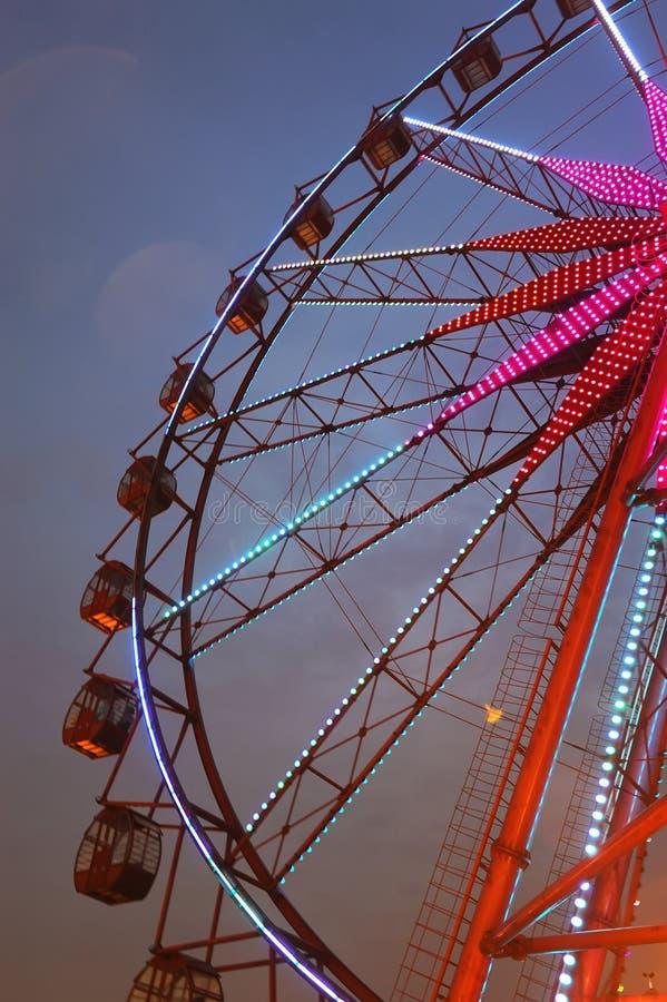 Download Ferris wheel at night stock image. Image of fair, cabins - 20311207