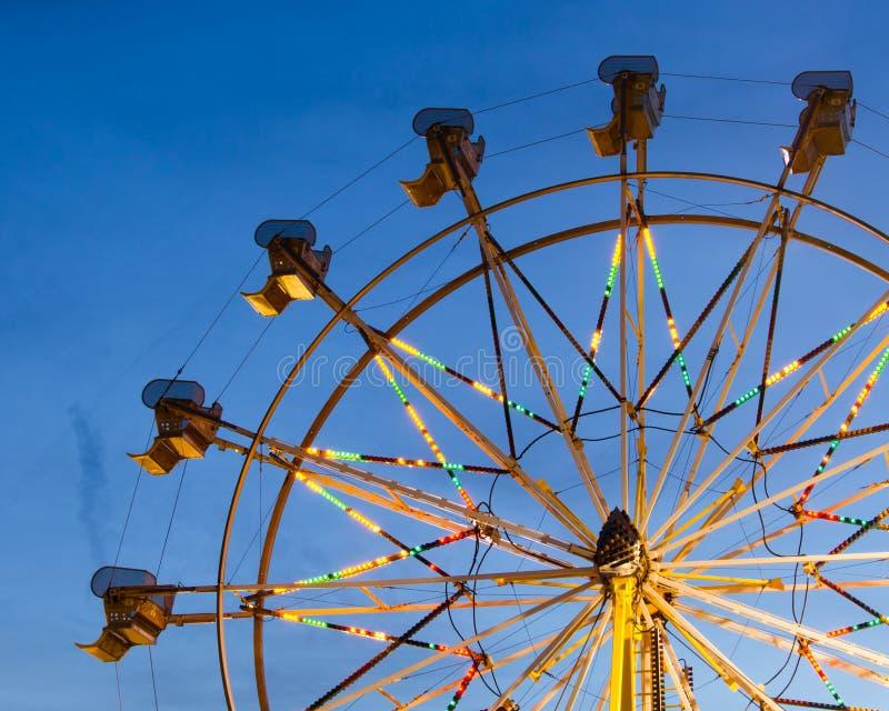 Ferris wheel at night. Colorful ferris wheel at night stock image