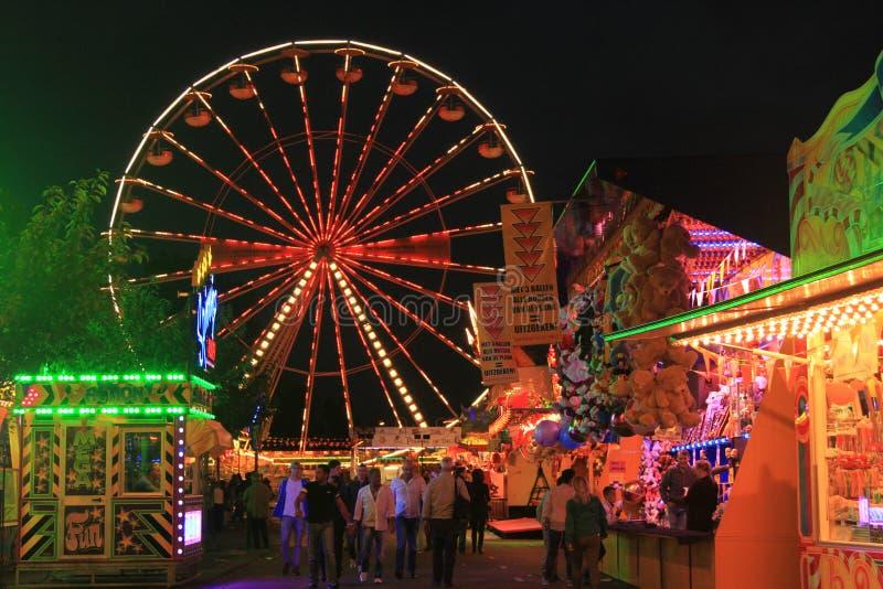 Ferris wheel. The ferris wheel at night royalty free stock image