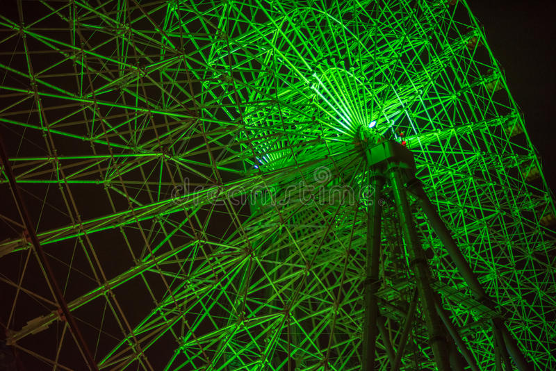 Ferris Wheel At Night stock foto