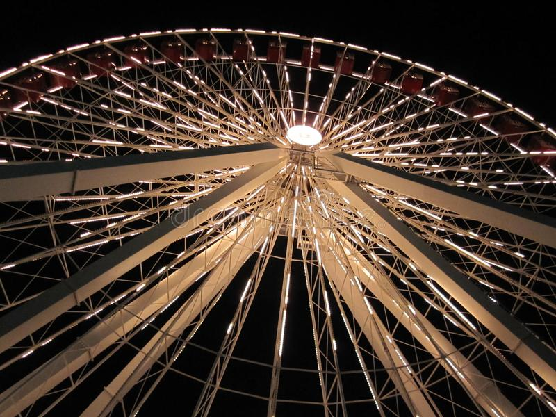 Ferris Wheel At Night immagine stock