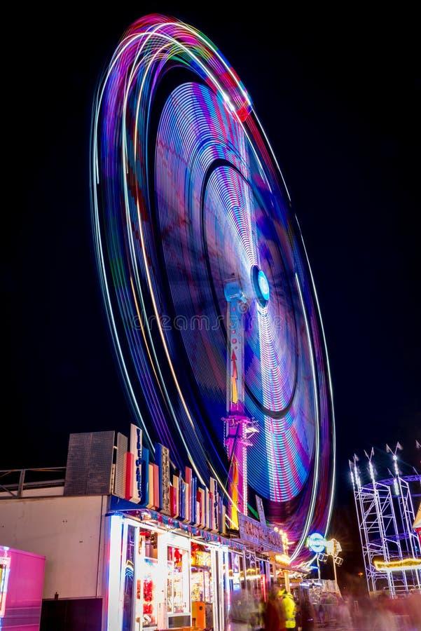 Ferris Wheel At Night fotografía de archivo