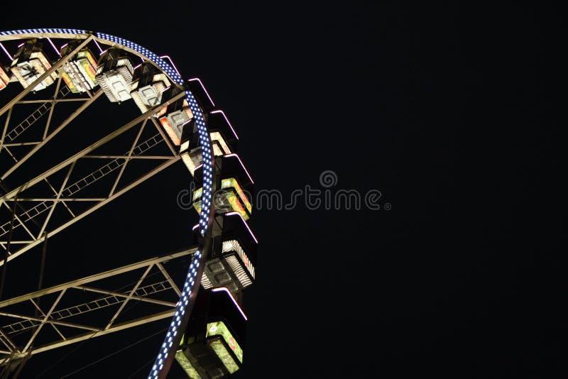 Ferris Wheel At Night royalty-vrije stock foto's