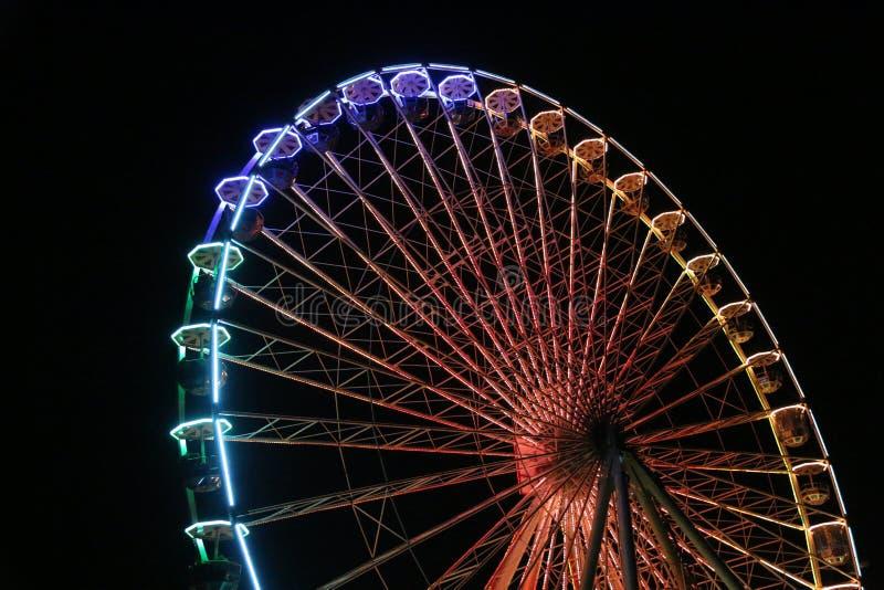 Ferris Wheel At Night stock afbeelding