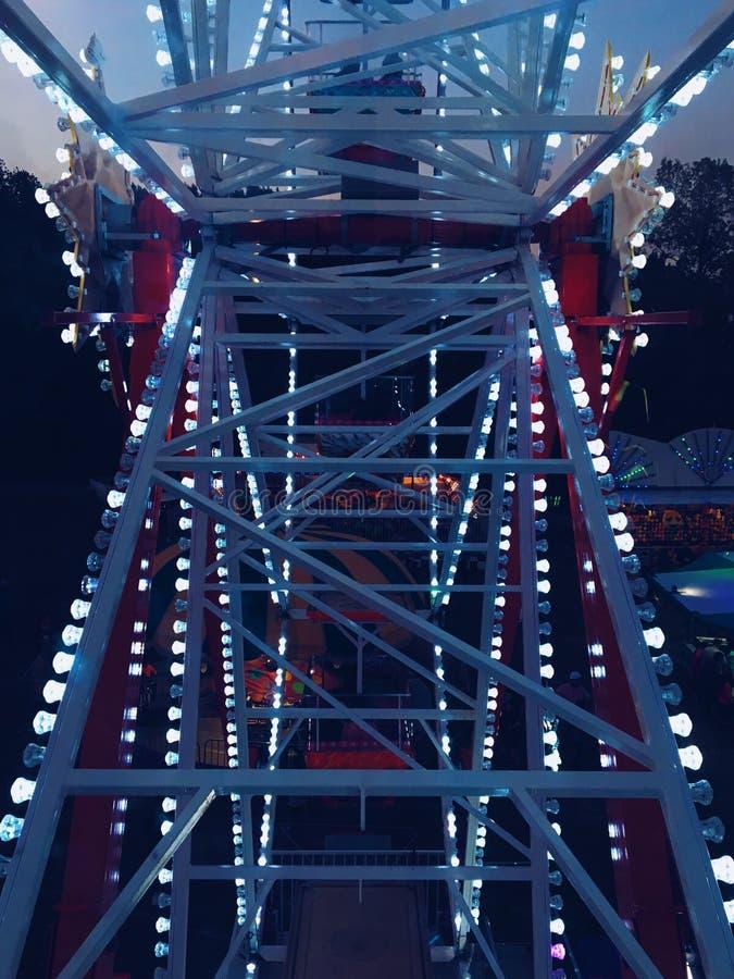 Ferris Wheel At Night royalty-vrije stock fotografie