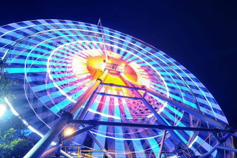 Ferris Wheel at night. Beautiful light Ferris Wheel at night stock photos