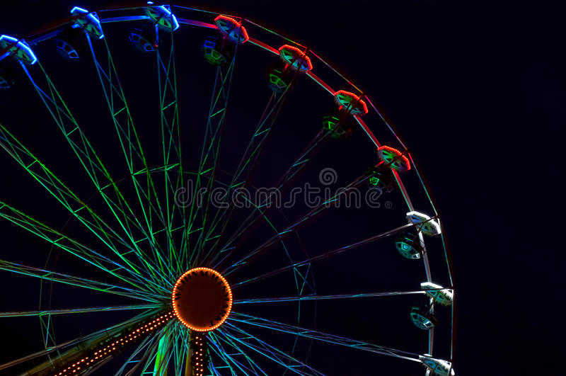Ferris wheel in night Erfurt, Germany royalty free stock photography
