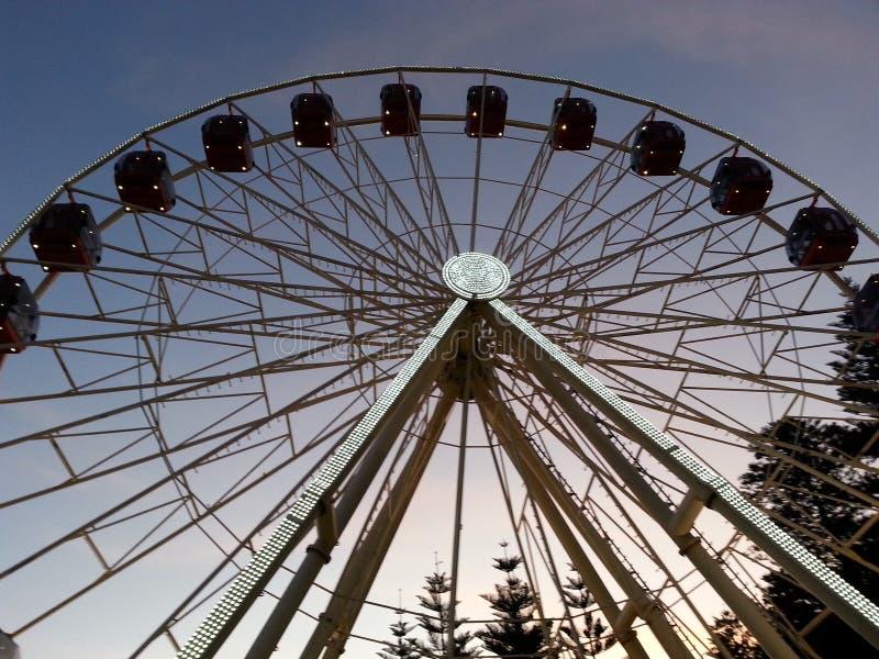 Ferris wheel at night Fremantle Perth Western Australia. Fremantle ferris wheel twilight night dusk stock photos