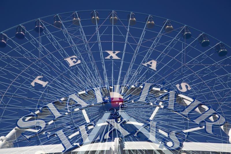 Ferris Wheel och statlig mässa TX royaltyfri fotografi