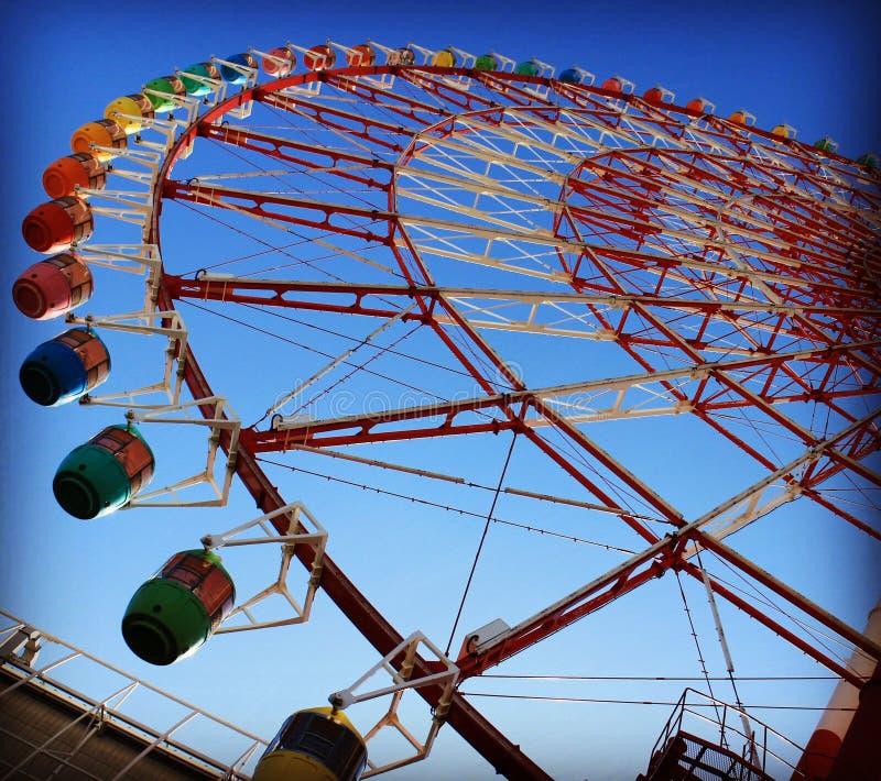 Ferris wheel Odaiba Bay stock images
