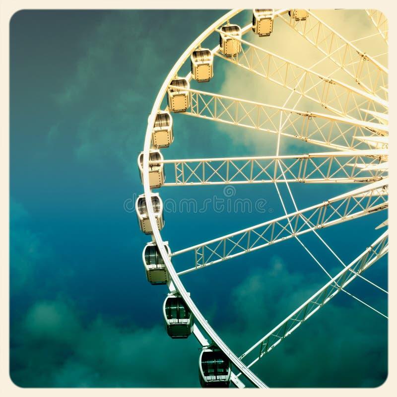 Ferris Wheel Old Photo Stock Image
