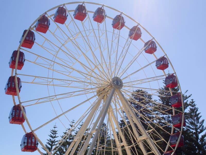 Ferris Wheel op de Promenade in Fremantle, Westelijk Australië stock foto's