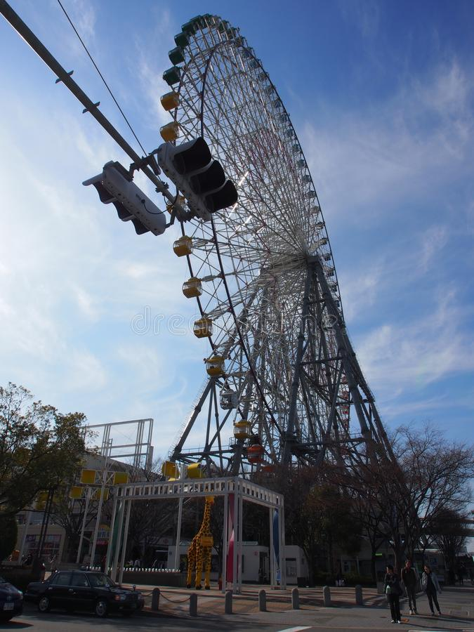 Ferris Wheel Osaka Kansai Japan-Reis stock afbeelding
