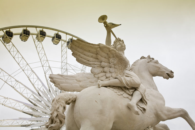 Ferris wheel, Paris royalty free stock image