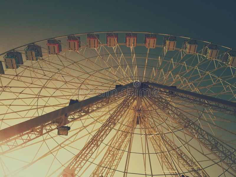 Download Ferris wheel perspective stock photo. Image of sunset - 41424660