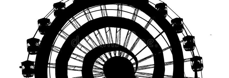 Ferris Wheel Poster royalty-vrije stock fotografie