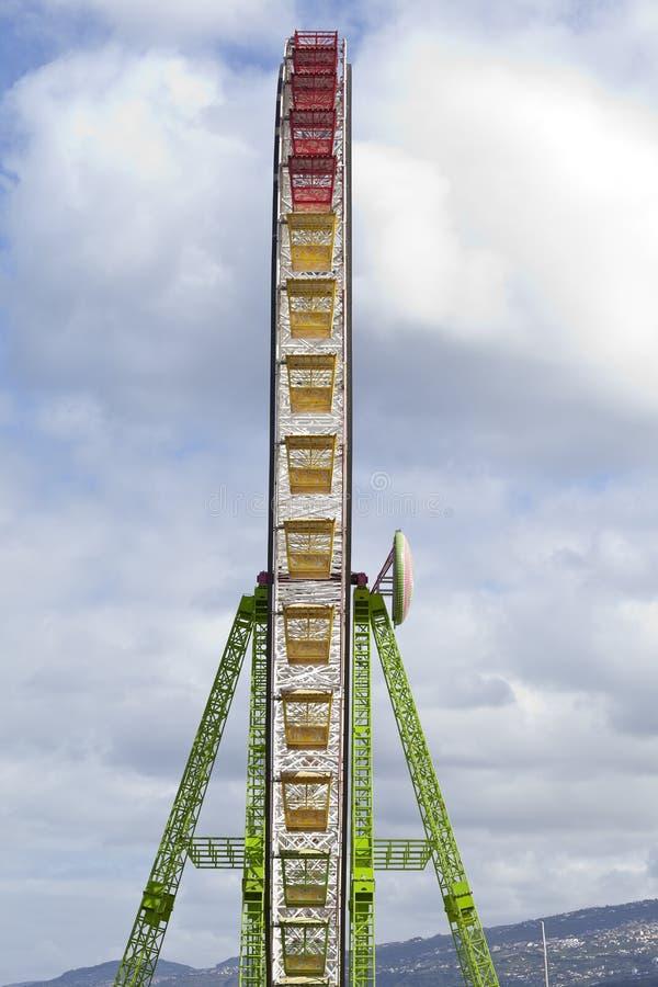 Ferris wheel. In Puerto de la Cruz, Tenerife, Canary Islands, Spain royalty free stock photography