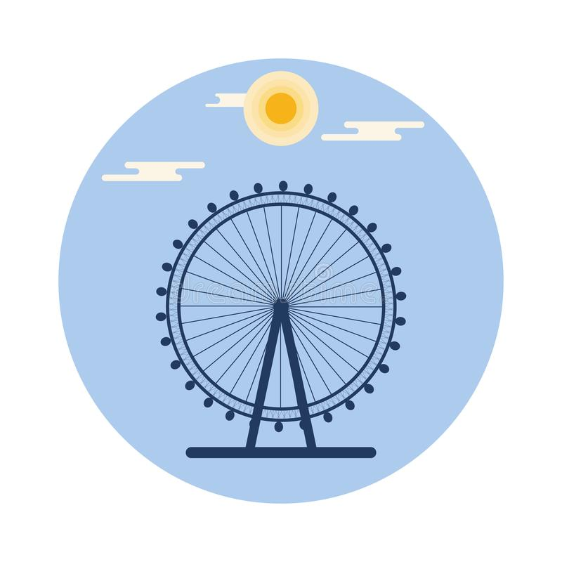 Ferris Wheel Reconstrucción y entretenimiento libre illustration