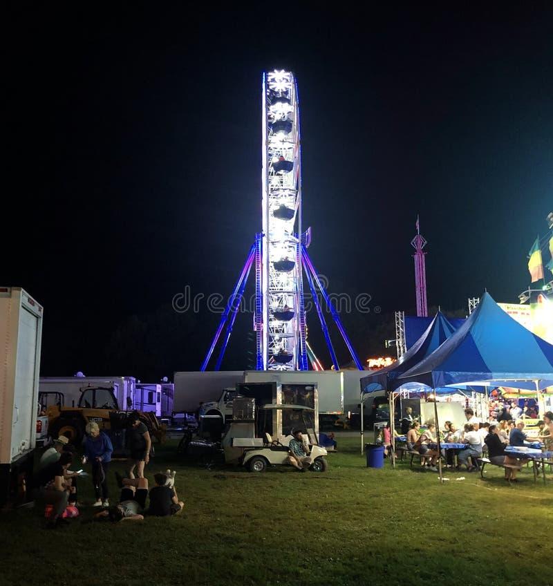 Ferris Wheel in Lights at Night royalty free stock photos