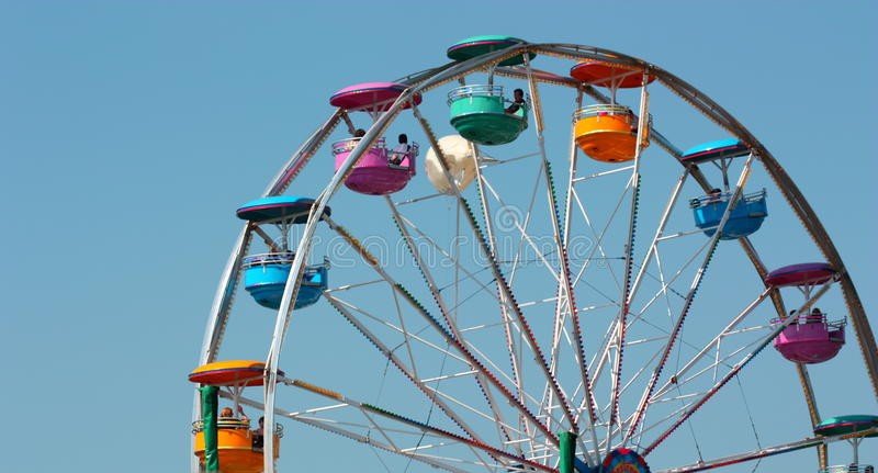 Download Ferris Wheel Ride, With Clear Blue Sky Stock Image - Image: 11832405