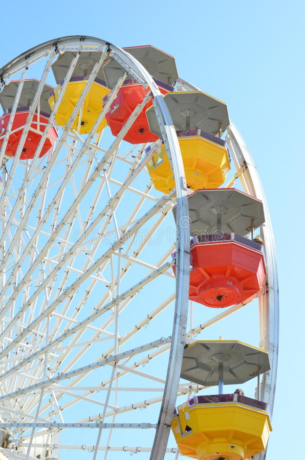 Ferris Wheel. On Santa Monica Pier, Pacific Park stock photos
