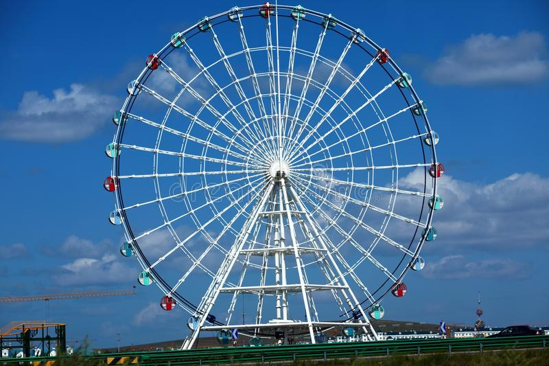 Ferris wheel. Shot of ferris wheel ,neimenggu province ,china stock photo