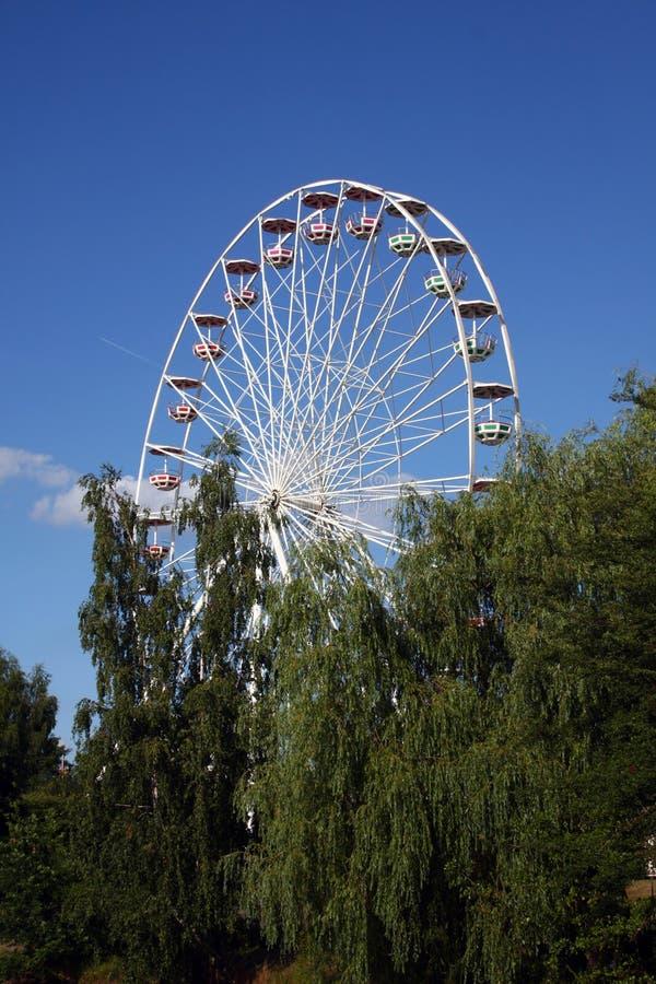 Ferris wheel (on the side)