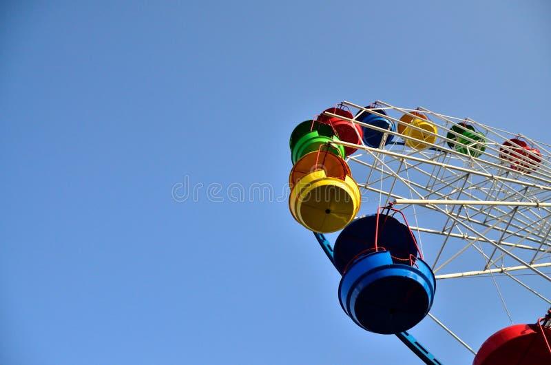 Ferris wheel. The Ferris wheel in summer stock photography