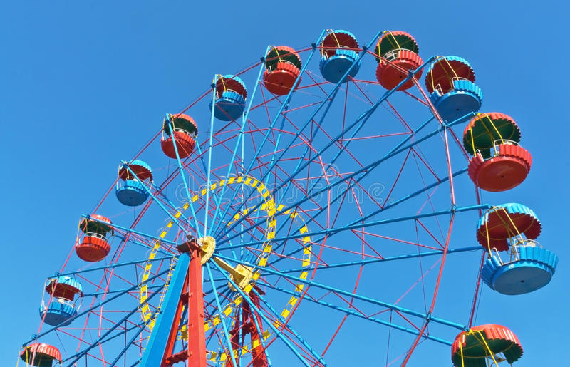 Ferris wheel. In the summer morning royalty free stock photos