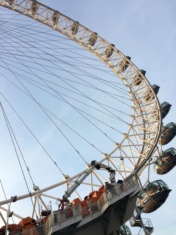 Ferris wheel on a sunny day stock photo