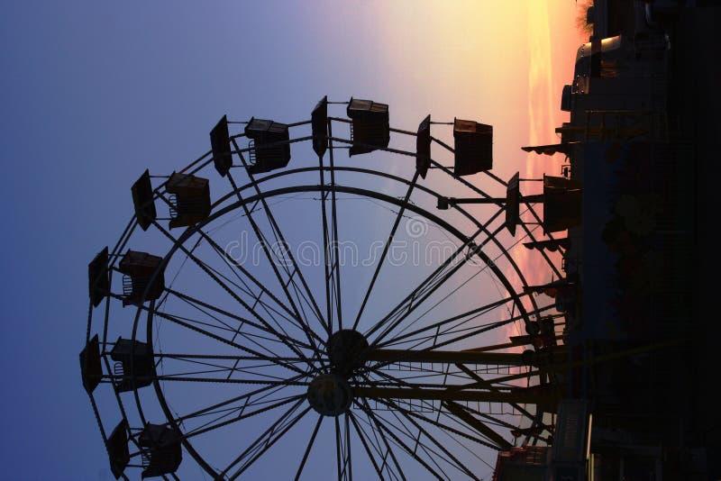 Ferris Wheel At Sunset Royalty Free Stock Image