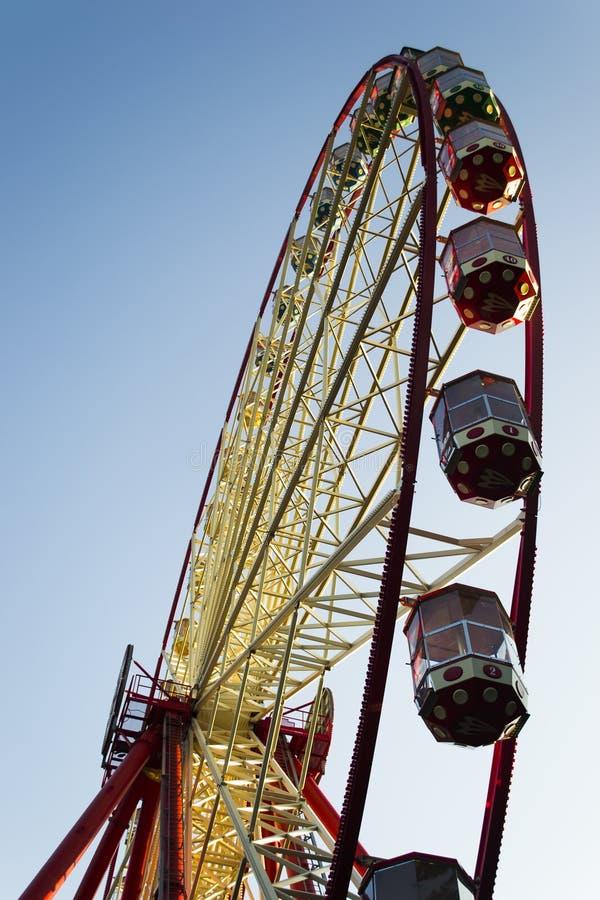 Ferris wheel. The tallest Ferris wheel in Ukraine. The full turn of the wheel 15 minutes royalty free stock photos