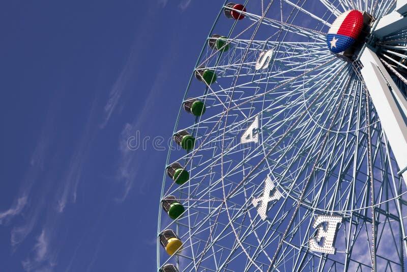 Ferris Wheel in Texas. Ferris wheel at the Texas State Fair in Dallas TX stock photo