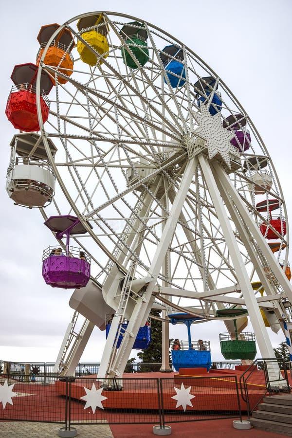 Ferris wheel in Tibidabo. BARCELONA, SPAIN - JULY 3, 2016: Ferris wheel in Tibidabo, Barcelona royalty free stock photo