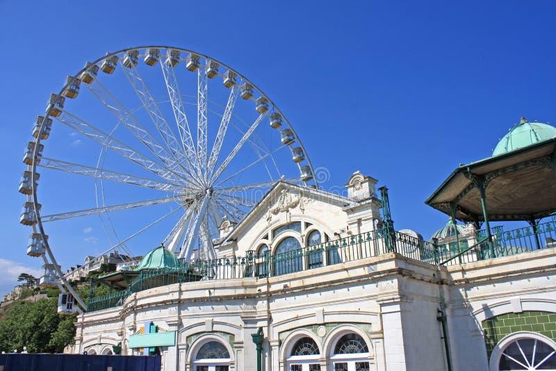 Ferris Wheel. By the Torquay pavilion royalty free stock photo