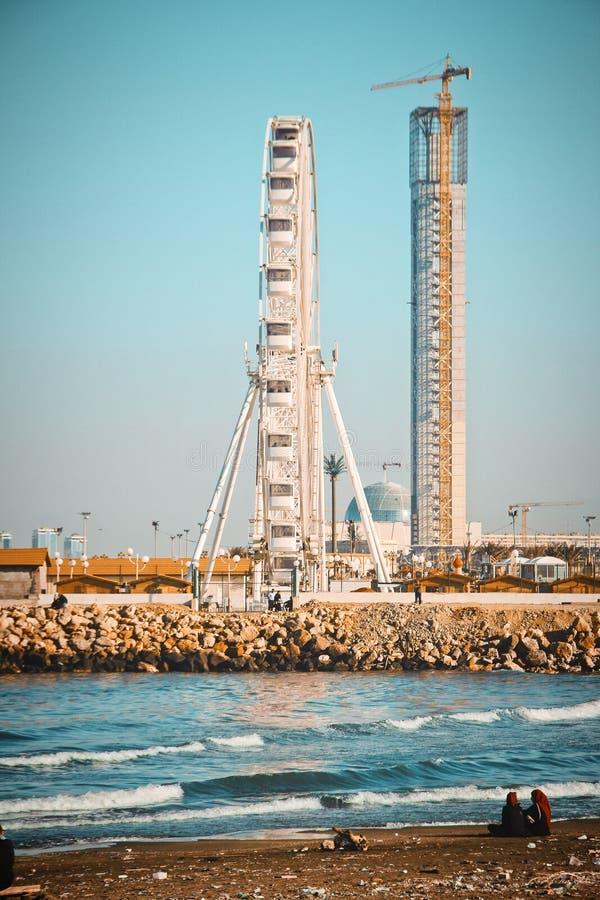 Ferris Wheel Under Blue Sky royalty free stock photos