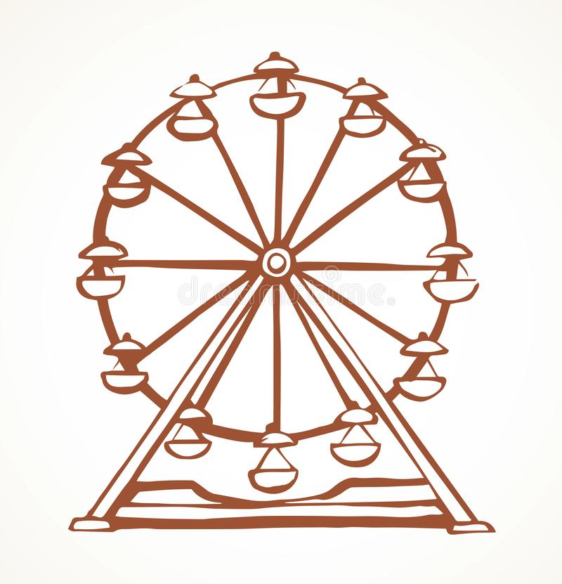 Free Ferris Wheel. Vector Drawing Stock Photography - 150895262
