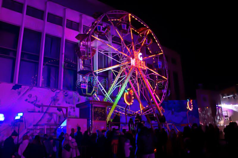 Ferris wheel. very nice photo at the concert stock image