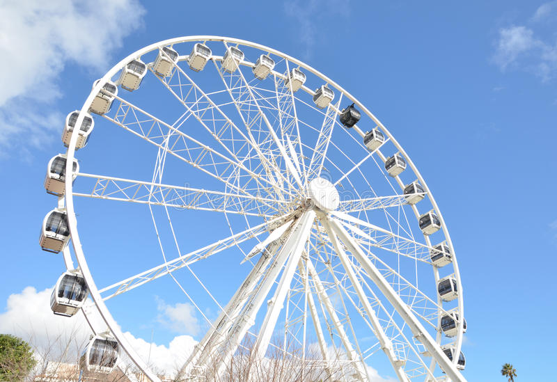 "Ferris Wheel in Victoria en Albert Waterfront †""Cape Town, Zuid-Afrika royalty-vrije stock fotografie"