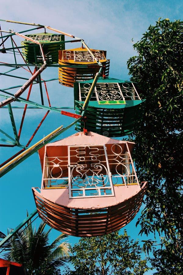 Ferris wheel wallpaper, Thailand royalty free stock photography