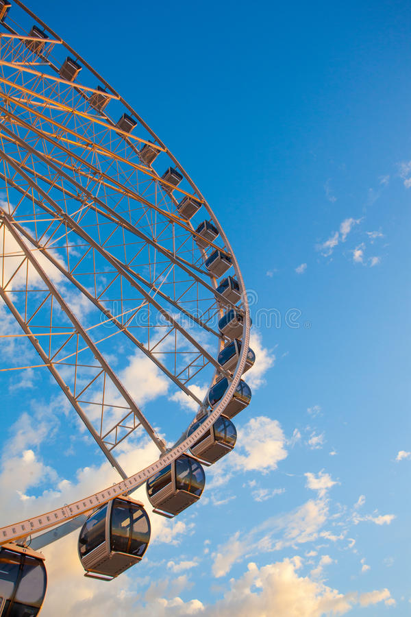 Download Ferris Wheel On The Water At Sunset Stock Image - Image: 26543629