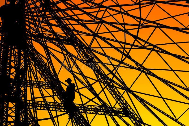 Ferris Wheel Worker imagenes de archivo
