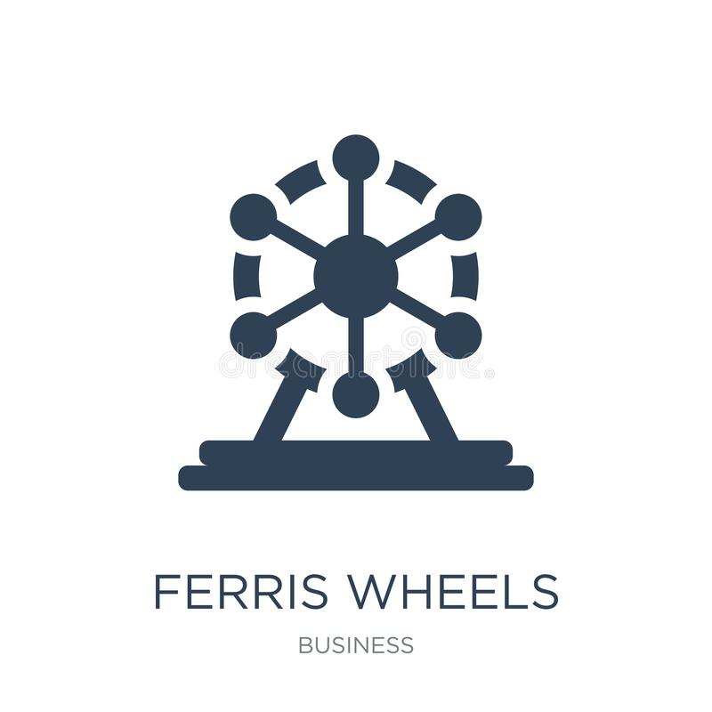 ferris wheels icon in trendy design style. ferris wheels icon isolated on white background. ferris wheels vector icon simple and royalty free illustration