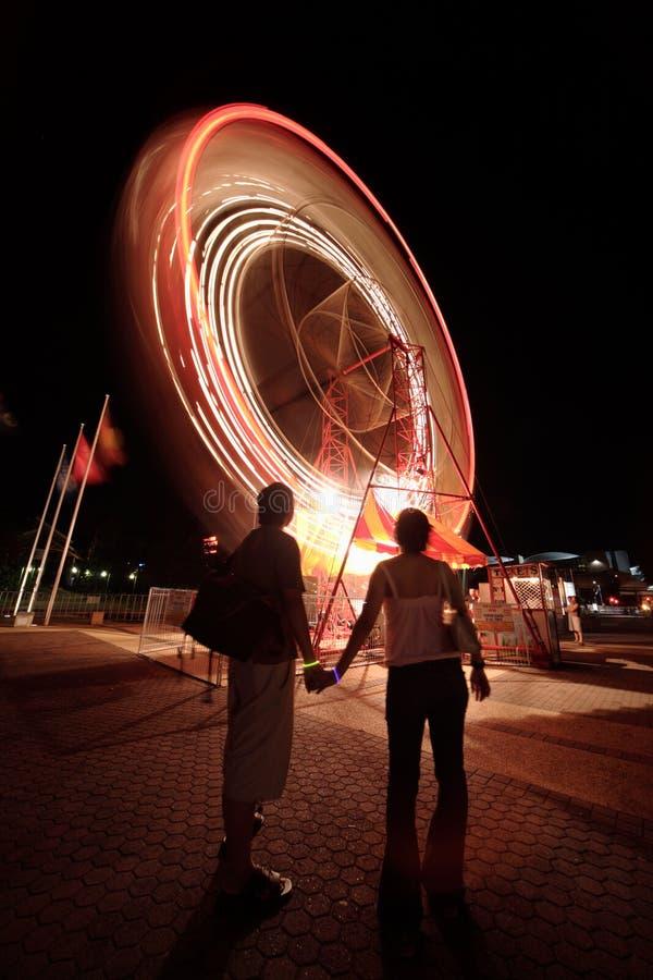 Ferris-wiel in Brisbane royalty-vrije stock afbeelding