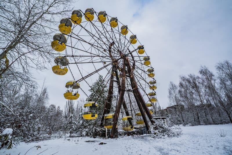 Ferriswiel van Tchernobyl stock afbeeldingen