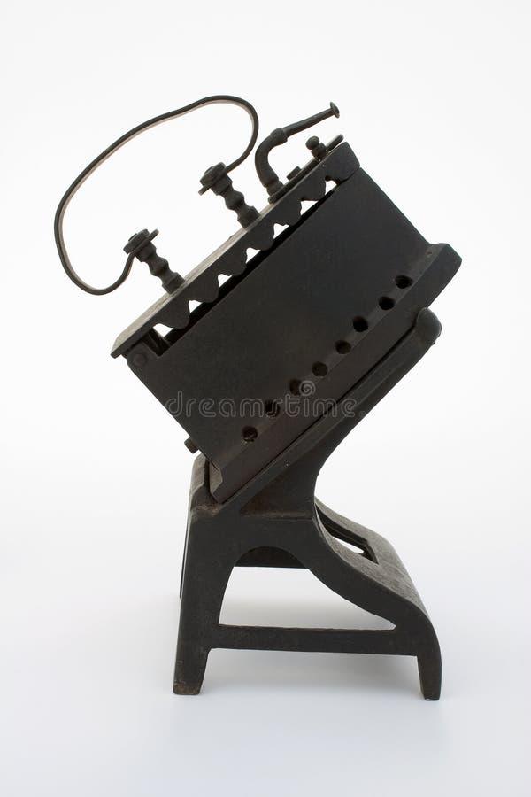 Ferro antigo de carvão fotografia de stock