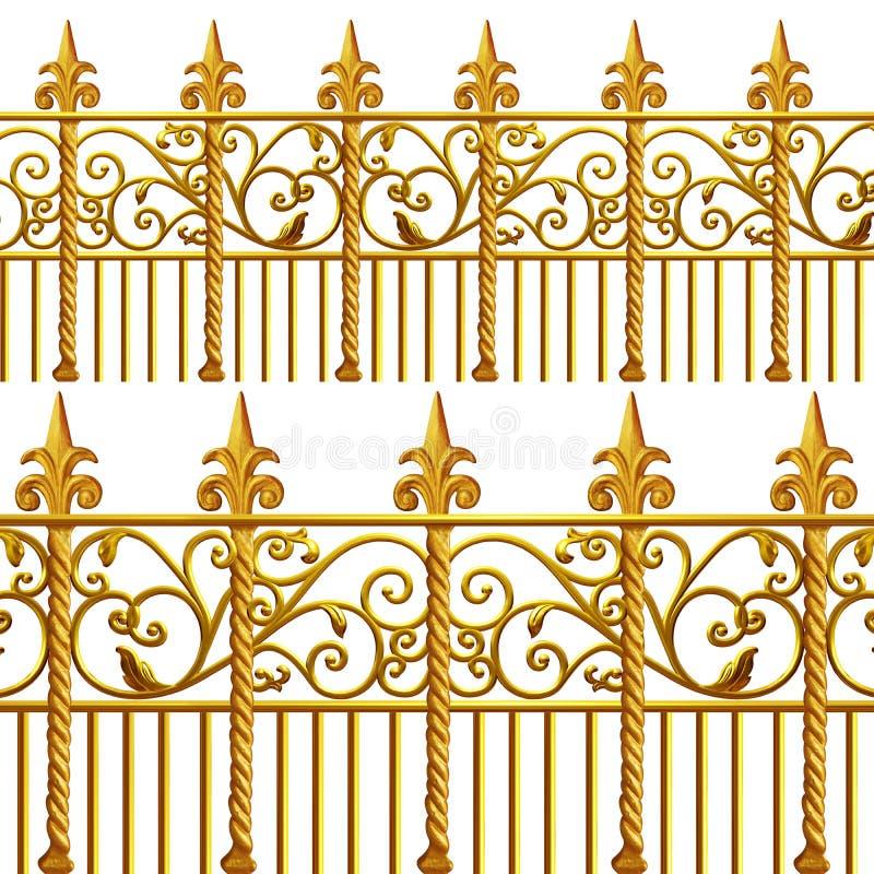 Ferro battuto dell'oro di New Orleans illustrazione di stock