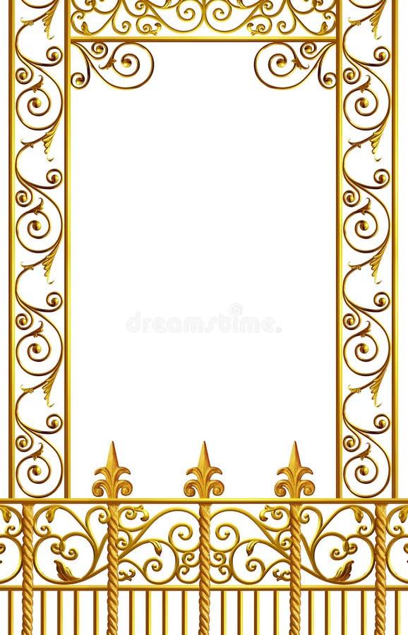 Ferro battuto di New Orleans illustrazione vettoriale